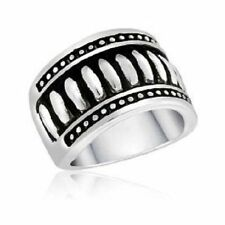 DaVinci Beads Silver Ribbed Ring - DR101-6 -Brand New - Several Sizes