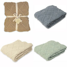 Paoletti Bronte Knitted 100% Cotton Throw, 130 x 180 Cm