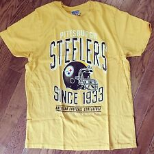 New Vintage Inspired Junk Food Mens Pittsburgh Steelers Kick Off T-Shirt