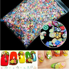 1000pcs New Nail Art Fimo Flower Fruit Animal Slice Clay Sticker Colorful Decal