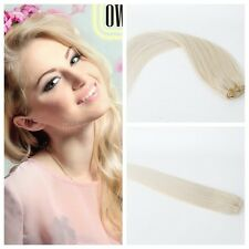 7 Pcs/70g #613Blonde  Full Head Clip in Human Hair Extensions Remy Human Hair