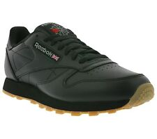 NEU Reebok Classic CL Leather Shoes Men's Sneakers Trainers Black 49800
