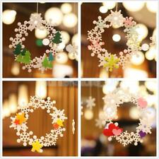 Snoflake Heart Star Felt Adhesive Wreath Wedding Hanging Decorations