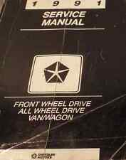 1991 Dodge Ram Van Wagon FWD Service Shop Repair Workshop Manual OEM Factory