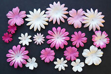 100 x Mixed MULBERRY PAPER FLOWERS - SUMMER BLOOMS  Paper craft Embellishments