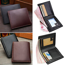 CHIC Men's Leather Business Wallet Pocket Card Clutch Bifold Money Purse Black
