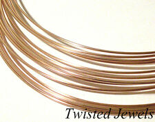 0.5oz 14K Rose Gold-Filled DS HALF-ROUND Jewelry Wire 14 16 18 20 22 24 GA Gauge
