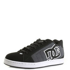 DC Shoes NET SC Black Dark Used Low Top Skate Trainers Sz Size