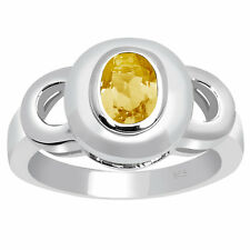 Orchid Jewelry 925 Sterling Silver 0.7 Carat Citrine Birthstone Ring