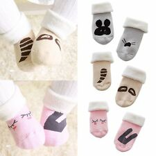 Cute Infant Baby Girls Boys Anti-Slip Cartoon Soft Cotton Socks Foot Socks 0-4Y