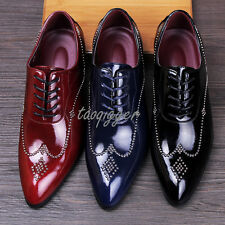 Hair Style Mens Pointed Toe Pull On Oxfords PU Leather Formal Dress Shoes Loafer