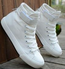 Mens Canvas Sports skate board Sneaker Casual flat Shoes ankle boots lace up