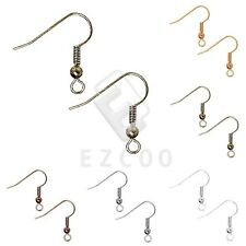 30g 140pcs Hook Ear Wires Flat Coil Earring Findings For Jewelry 18mm