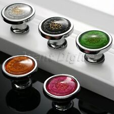 Cabinet Crystal Flower Pattern Handle Pull Knobs for Wardrobe Cupboard Drawer