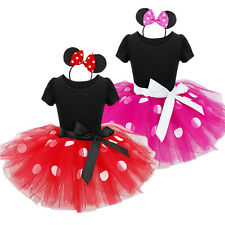 Girls Kids Tutu Dress Princess Dance Party Costume Mermaid Cinderella Minnie