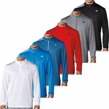 Adidas 2017 3-Stripes French Terry 1/4 Zip Pullover Training Mens Golf Sweater
