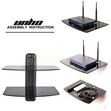 Floating Wall Mount Glass DVD Shelf TV Stand Sky Box Game Console Player Bracket