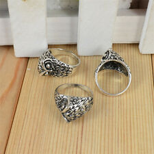 2017 Vintage Jewelry Antique Silver Cocktail Costume Party Retro Owl Ring Gift