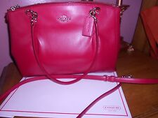 COACH Satchel/Shoulder bag NWT Smooth leather Red Christie style F36680 great