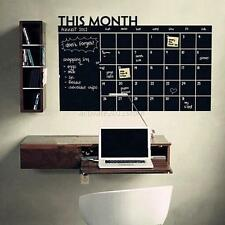 Chalkboard Vinyl Wall Sticker Removable Blackboard Decal Home Decor Week/Month