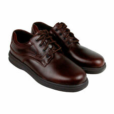 Hush Puppies Glen Mens Brown Leather Casual Dress Lace Up Oxfords Shoes