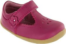 Bobux Reign Girl's Pink Single Strap Simple Casual T-bar Strap Leather Shoes New