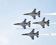 US AIR FORCE THUNDERBIRDS F-16C FIGHTING FALCONS FLIGHT FORMATION AERIAL PHOTO