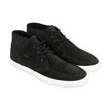 Lacoste Sevrin Mid 316 1 CAM Mens Black Suede Lace Up Trainers Shoes