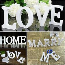 Wooden Wood Letter Alphabet Word Free Standing Nursery Wedding Party Home Decor