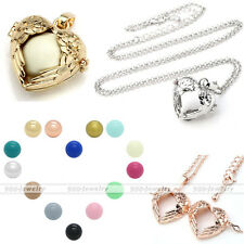 Angel Wing Heart Bola Pendant Harmony Chime Sounds Ball Cage Pregnancy Necklace