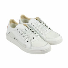 Diesel S-Groove Low Mens White Leather Lace Up Sneakers Shoes