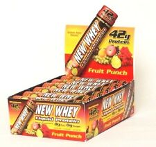 New Whey Nutrition LIQUID PROTEIN 42 Gram - 12 Pack CHOOSE FLAVOR or VARIETY PAK