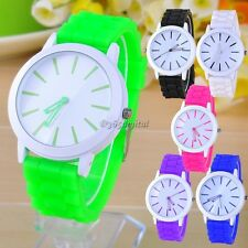 New Best Gift Classic Quartz Ladies/Womens/Girls Jelly Silicone Wrist Watch 35DI