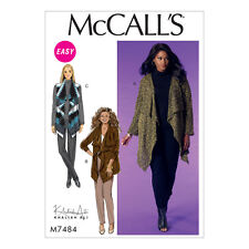 McCalls Sewing Pattern Misses/Womens Draped Cardigans and Vest   M7484