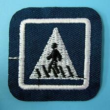 Danger Traffic Sign Iron on Sew Motif Patch Applique Badge Embroidered Biker Lot