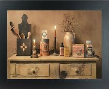Primitive new wall print in frame/ MAMA'S PANTRY/ by Billy Jacobs