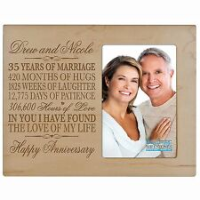 35th Anniversary Wedding Gift Personalized 4x6 Picture Photo Frame Engraved