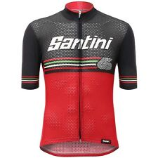 2017 Beat Cycling Jersey in Red - Made in Italy by Santini