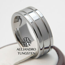 Tungsten Ring Comfort Fit Wedding Band 8MM Genuine Polished Shiny Size 6 to 14