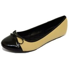 LADIES FLAT BLACK SLIP-ON COMFY WORK SHOES DOLLY BALLET SCHOOL PUMPS SIZES 3-7