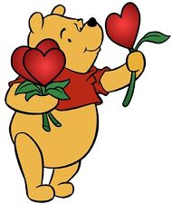 """5.5-9"""" DISNEY POOH HEARTS FLOWERS  WALL SAFE STICKER CHARACTER BORDER CUT OUT"""