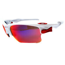 Oakley Sunglasses Fast Jacket XL White OO Red Polarized OO9156-07