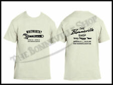 THE BONNEVILLE SHOP WHITWORTH T-SHIRT NATURAL TRIUMPH NORTON BSA PN# TBS-9998