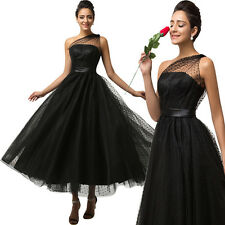 Vintage Style 1950s Maxi Evening Dress Prom Party Long Tulle Ball Gown PLUS SIZE