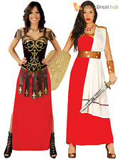 Ladies Gladiator Warrior Costume Adults Spartan Roman Fancy Dress Womens Outfit