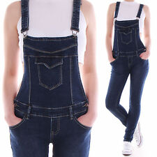 Women Dungarees Overalls Jumpsuit Low-rise Jeans Trousers Skinny Baggy D58
