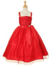 New Red Flower Girls Dress Easter Christmas Party Pageant Fancy Holiday 6006KK