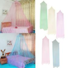 Bed Canopy Net Princess Mosquito Bug Net w/ Round Hoop Easy Fit Bedroom Beds