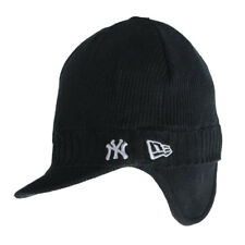 Mens New Era NY Flat Peak Ribbed Knitted Beanie Cap Hat Mens One Size