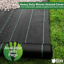 1m x 50m Woven Weed Control Landscape Fabric